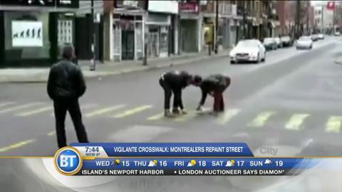 Vigilante Crosswalks: Montrealers repaint city streets