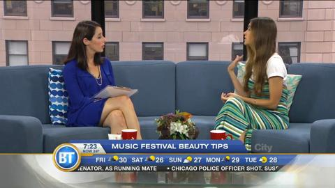 Music festival beauty tips