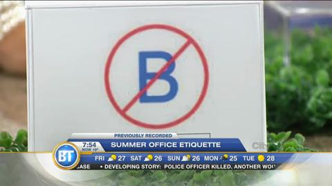 Summer office etiquette