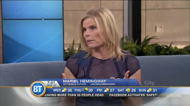 Oscar-nominated actress Mariel Hemingway