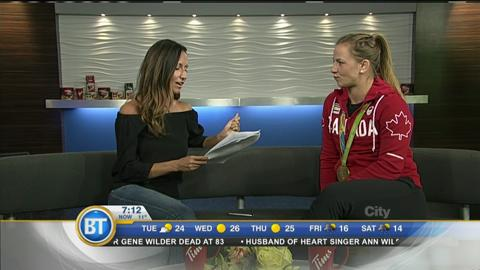 Olympic champion Erica Wiebe
