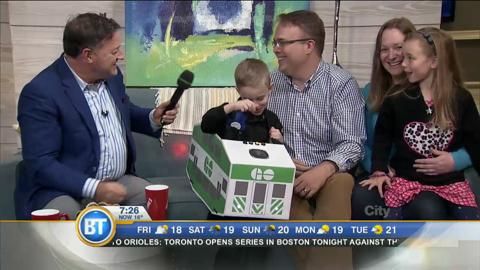 Celebrating GO train fan, Hunter's birthday