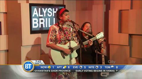 Alysha Brilla performs her single 'No More Violence' live!